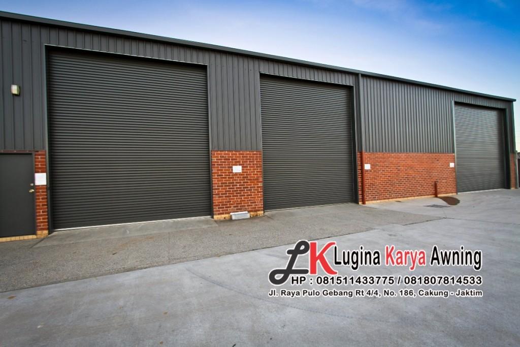rolling door lugina karya awning canopy kain 3